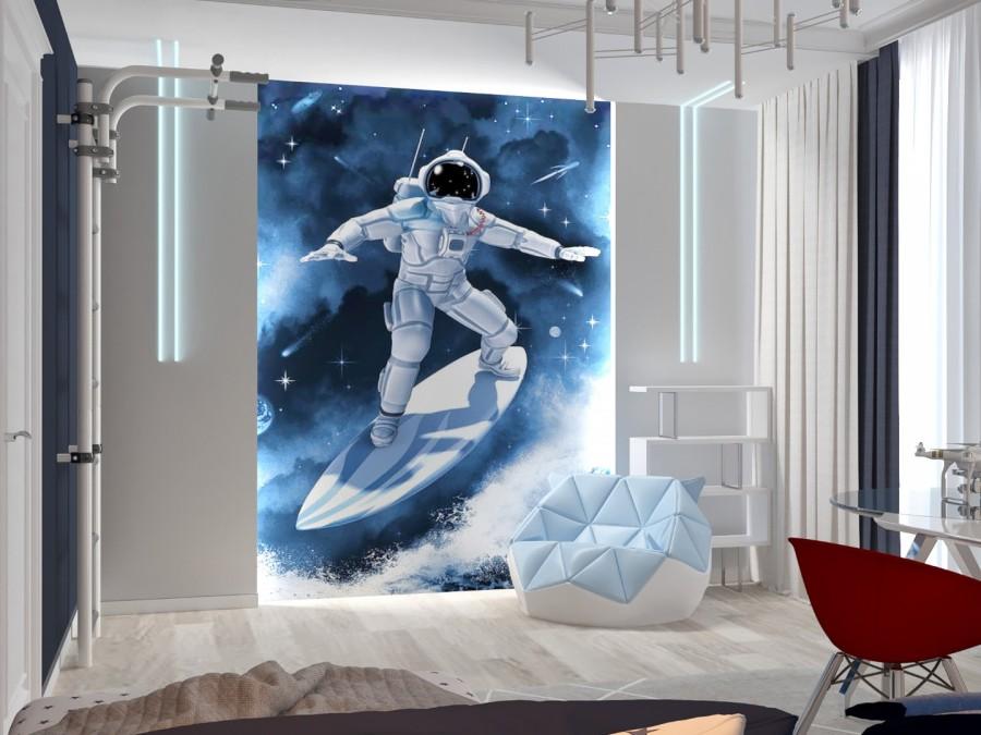 Космическая детская для настоящих космонавтов.
