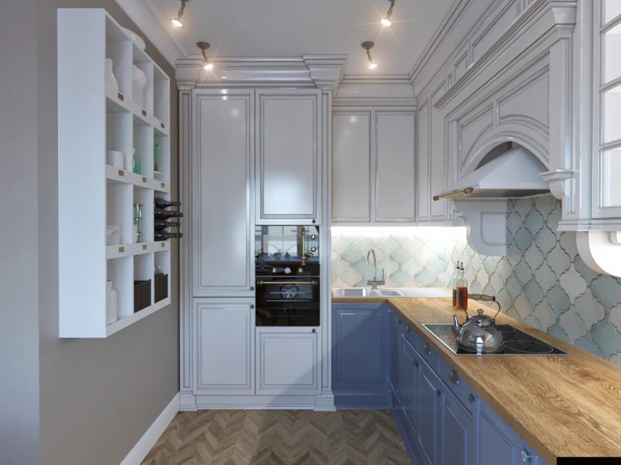Provance & Loft Гостиная _ кухня