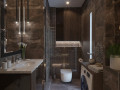 Обворожительная роскошь темного для ванной комнаты.