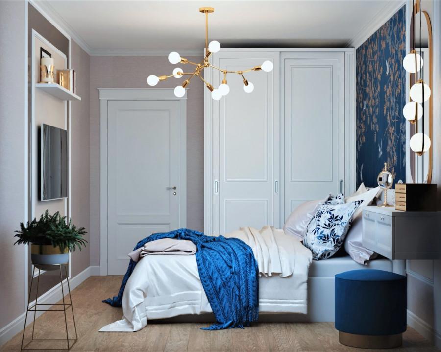 Спальня романтичная.