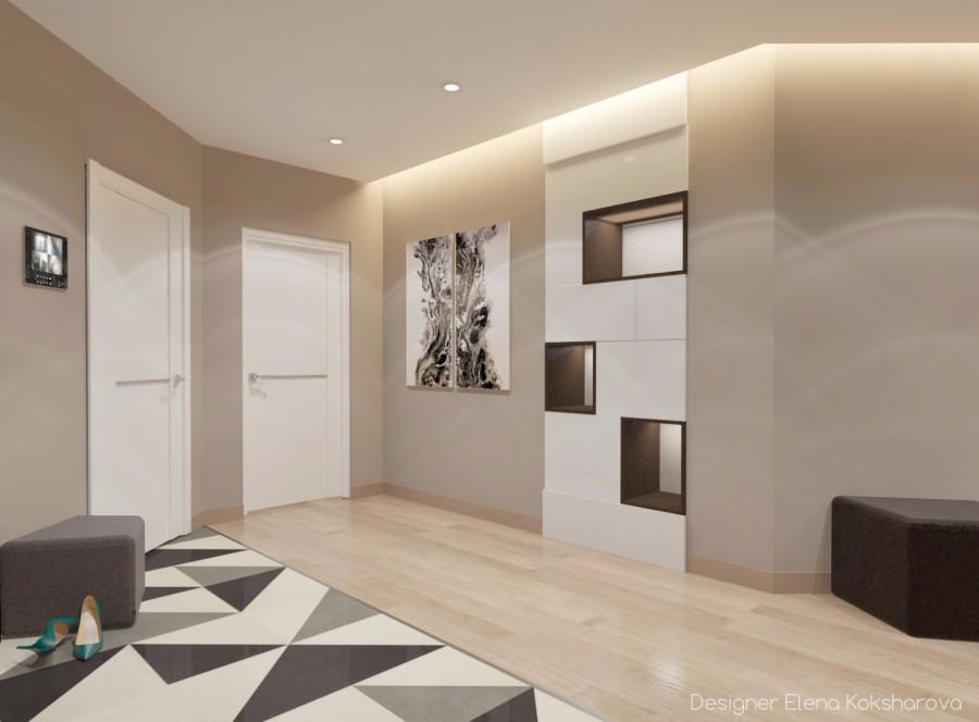 Холл в квартире. Современный стиль.