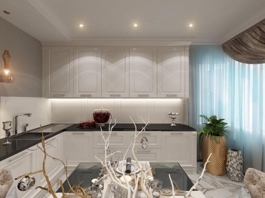 Проект кухни гостиной.