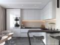 Гостиная с кухней. Современный стиль.