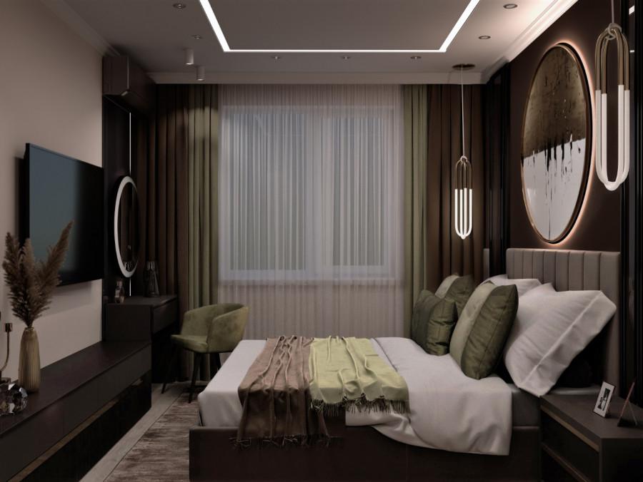 Шикарная спальня. Дизайн квартиры в Челябинске.