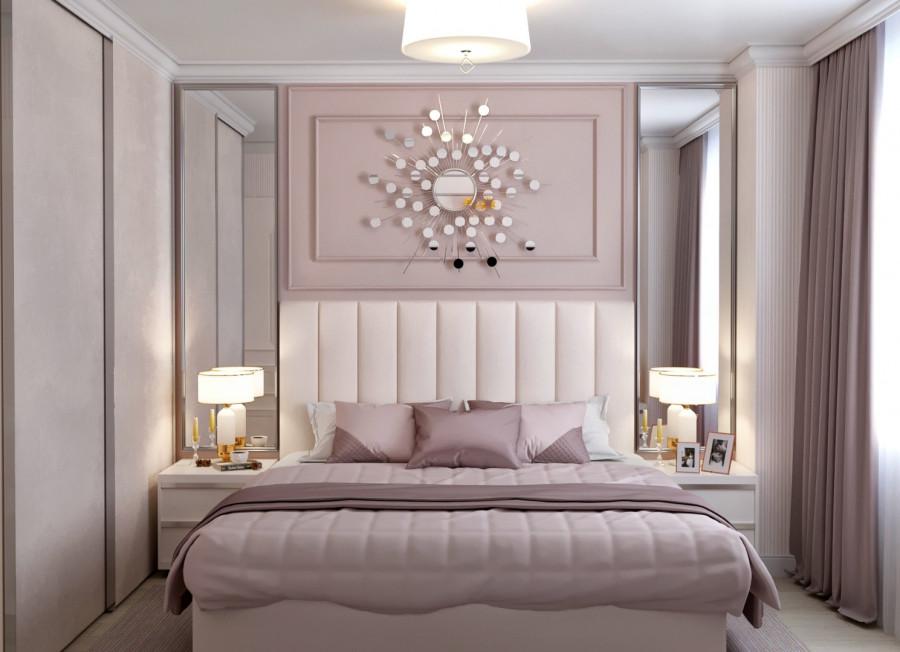 Спальня в пудровых  оттенках. ЖКМанхеттен