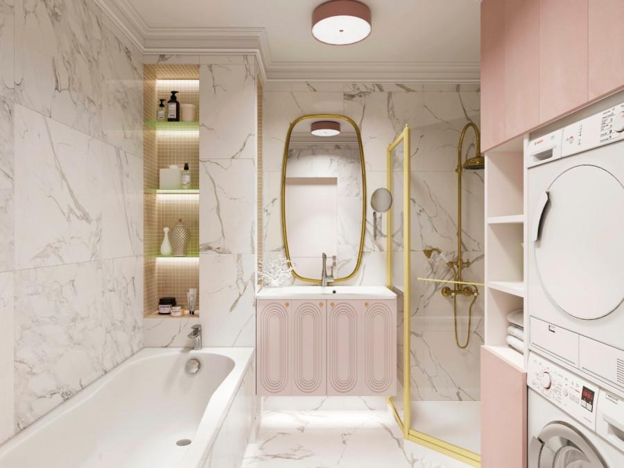Жеская ванная комната. ЖК Башня Свободы.