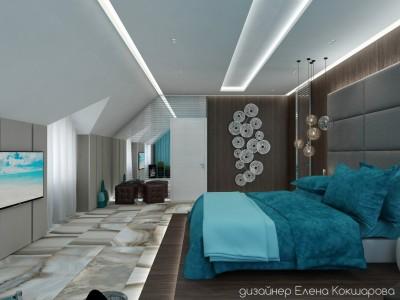 Спальня под крышей.
